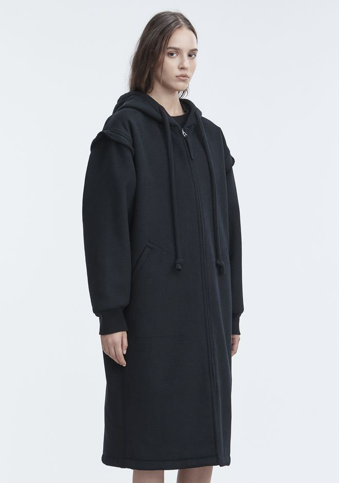 T by ALEXANDER WANG LONG WOOL JACKET JACKETS AND OUTERWEAR  Adult 12_n_a
