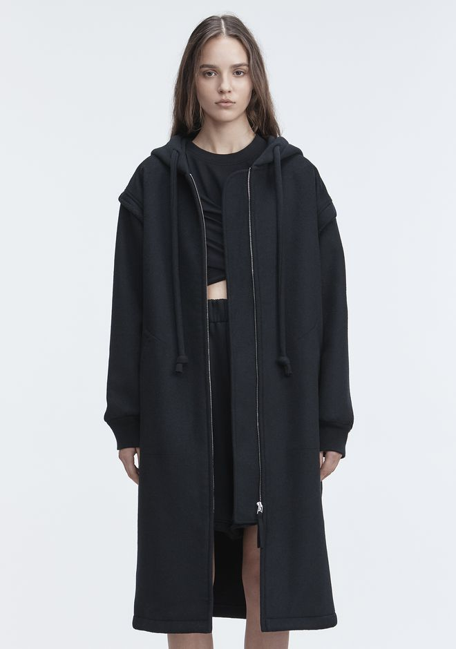 T by ALEXANDER WANG LONG WOOL JACKET VESTES ET VÊTEMENTS OUTDOOR Adult 12_n_d