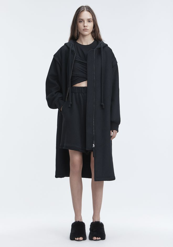 T by ALEXANDER WANG LONG WOOL JACKET VESTES ET VÊTEMENTS OUTDOOR Adult 12_n_f