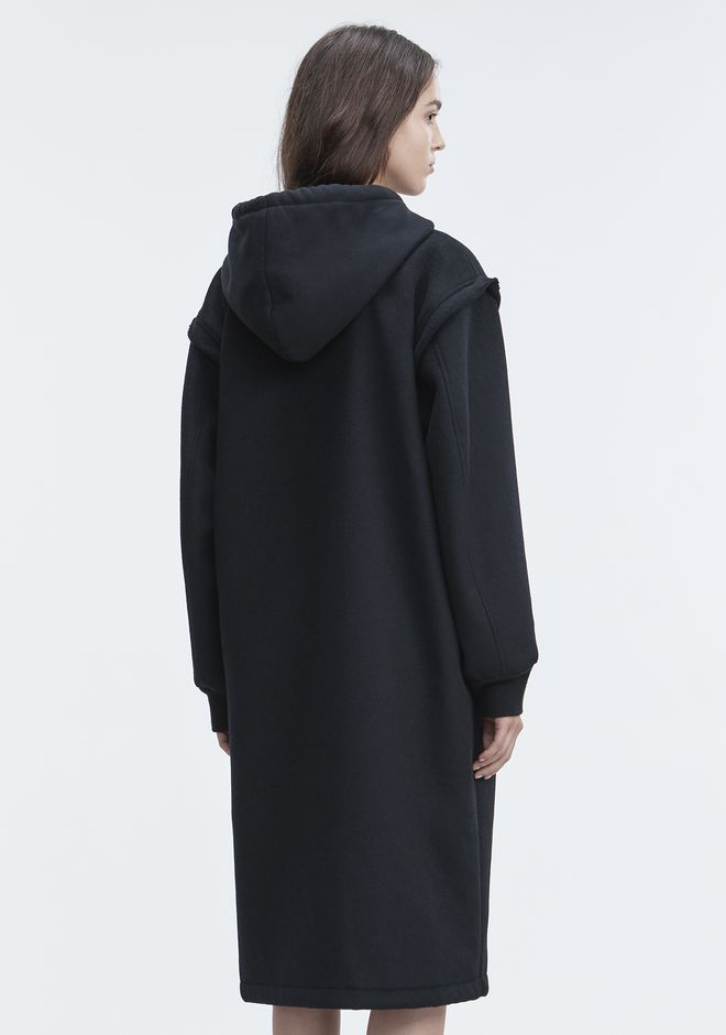 T by ALEXANDER WANG LONG WOOL JACKET VESTES ET VÊTEMENTS OUTDOOR Adult 12_n_r