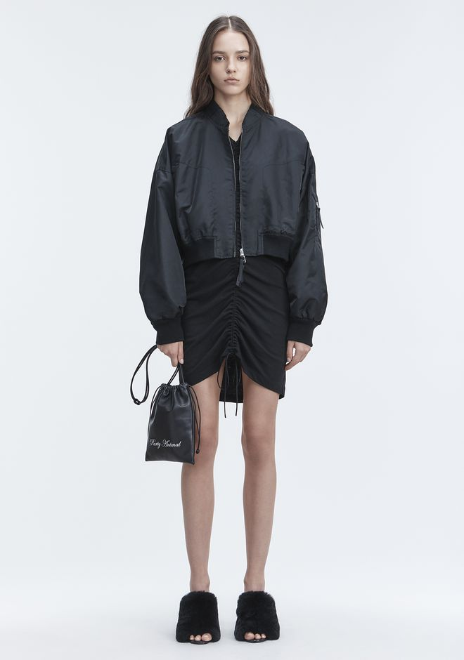 T by ALEXANDER WANG JACKETS AND OUTERWEAR  Women NYLON TWILL JACKET