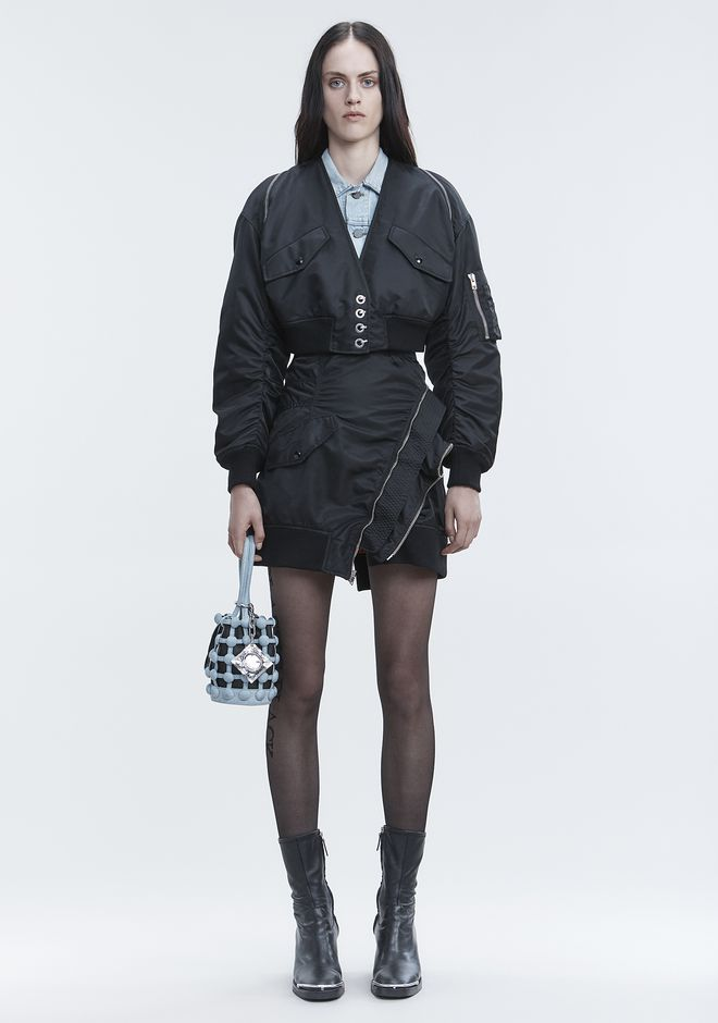 ALEXANDER WANG new-arrivals-ready-to-wear-woman V-NECK BOMBER