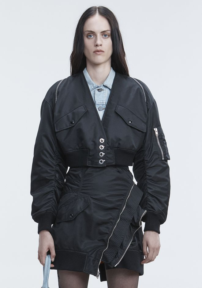 ALEXANDER WANG V-NECK BOMBER  JACKETS AND OUTERWEAR  Adult 12_n_d