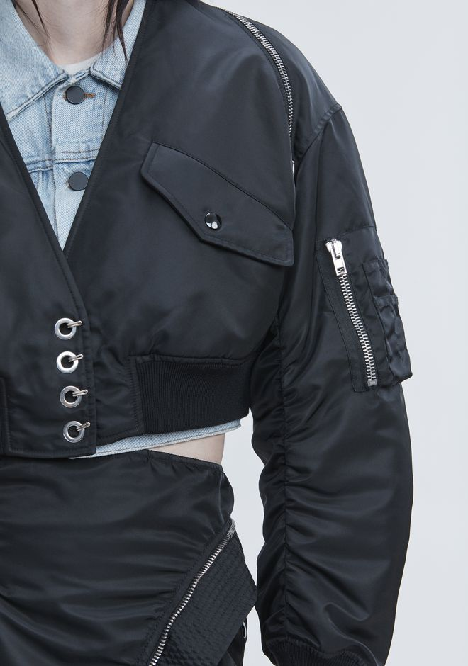 ALEXANDER WANG V-NECK BOMBER  JACKETS AND OUTERWEAR  Adult 12_n_r