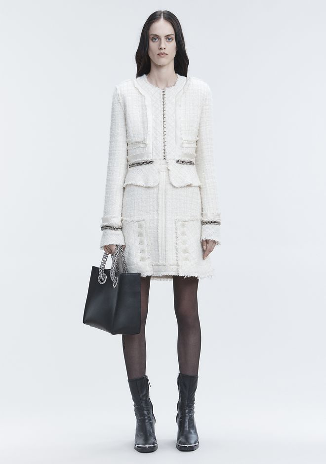 ALEXANDER WANG JACKETS AND OUTERWEAR  Women DECONSTRUCTED TWEED JACKET