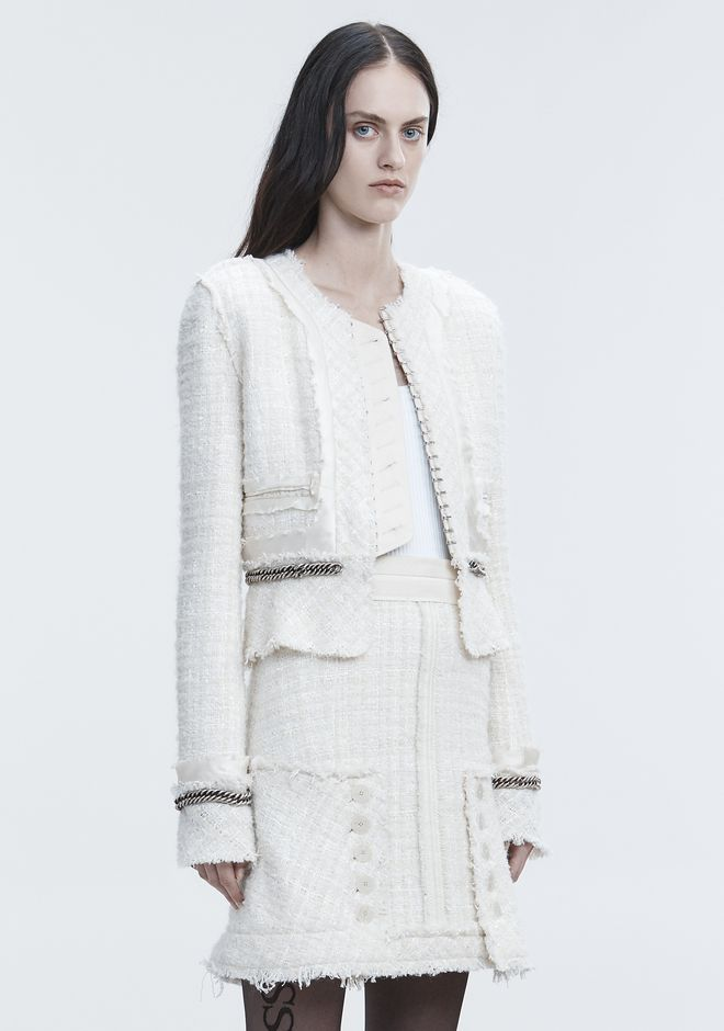 ALEXANDER WANG DECONSTRUCTED TWEED JACKET  夹克及外套 Adult 12_n_a