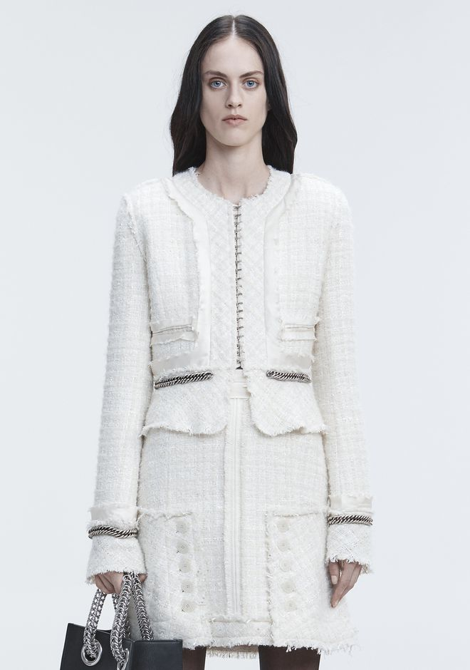 ALEXANDER WANG DECONSTRUCTED TWEED JACKET  夹克及外套 Adult 12_n_d