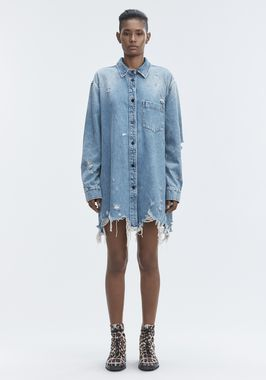 DENIM SHIRT JACKET