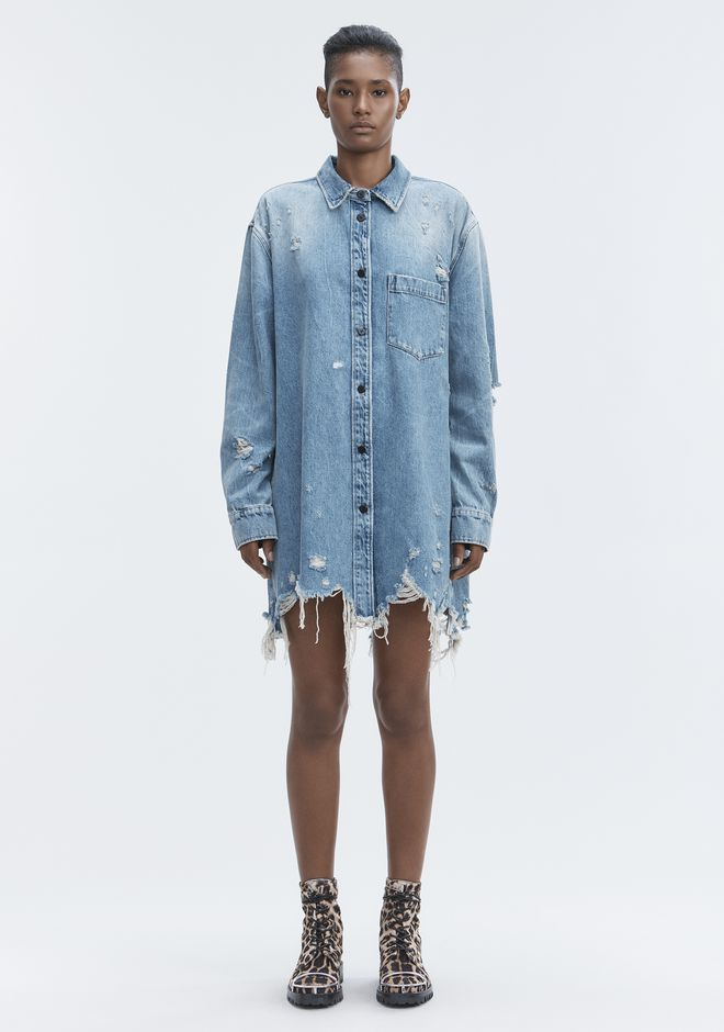 ALEXANDER WANG DENIM SHIRT JACKET DENIM Adult 12_n_f