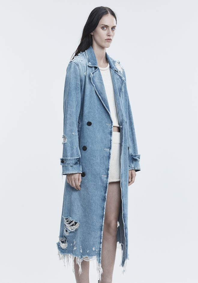 ALEXANDER WANG DENIM TRENCH COAT DENIM Adult 12_n_a
