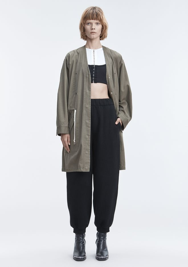T by ALEXANDER WANG JACKET WITH GATHERED WAIST VESTES ET VÊTEMENTS OUTDOOR Adult 12_n_f