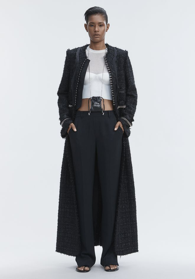 ALEXANDER WANG new-arrivals-ready-to-wear-woman DECONSTRUCTED TWEED COAT