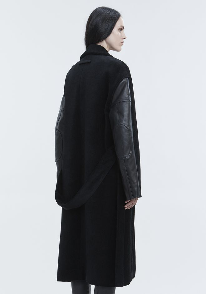 ALEXANDER WANG LEATHER HYBRID ROBE JACKETS AND OUTERWEAR   12_n_e