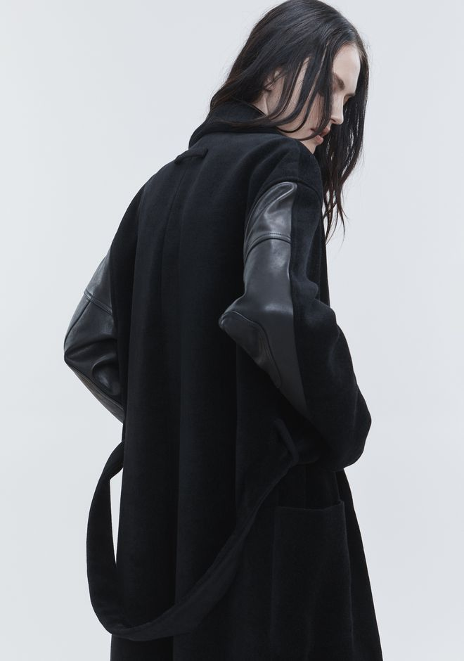 ALEXANDER WANG LEATHER HYBRID ROBE JACKETS AND OUTERWEAR   12_n_r