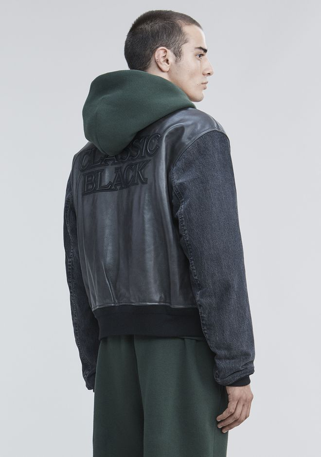 ALEXANDER WANG VARSITY BOMBER JACKET  JACKETS AND OUTERWEAR  Adult 12_n_d