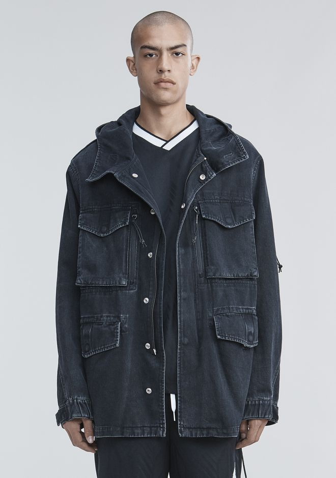 ALEXANDER WANG DENIM FIELD JACKET JACKETS AND OUTERWEAR  Adult 12_n_a