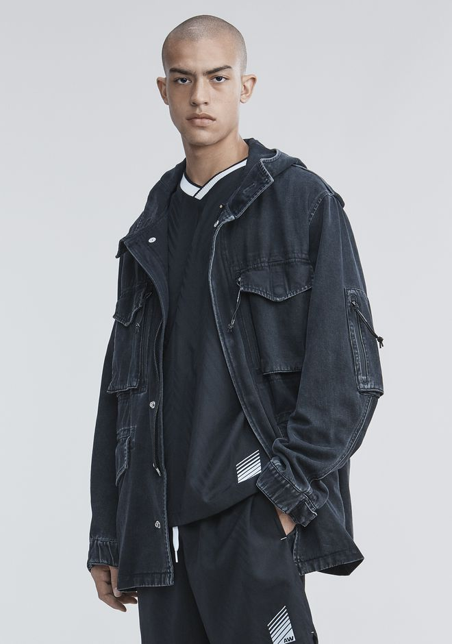 ALEXANDER WANG DENIM FIELD JACKET JACKETS AND OUTERWEAR  Adult 12_n_d