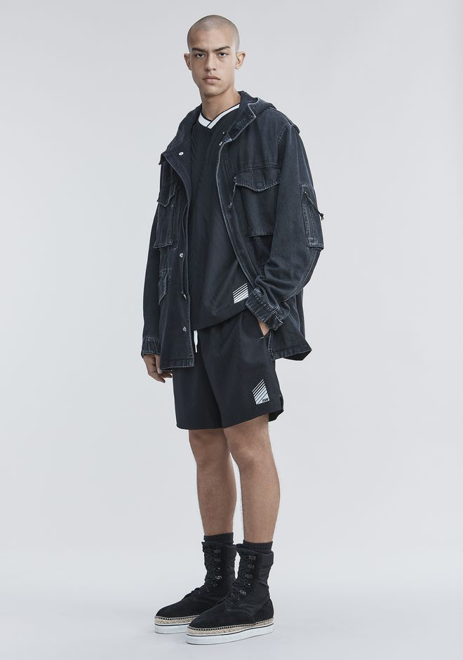 ALEXANDER WANG DENIM FIELD JACKET JACKETS AND OUTERWEAR  Adult 12_n_f