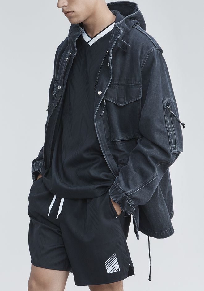 ALEXANDER WANG DENIM FIELD JACKET JACKETS AND OUTERWEAR  Adult 12_n_r