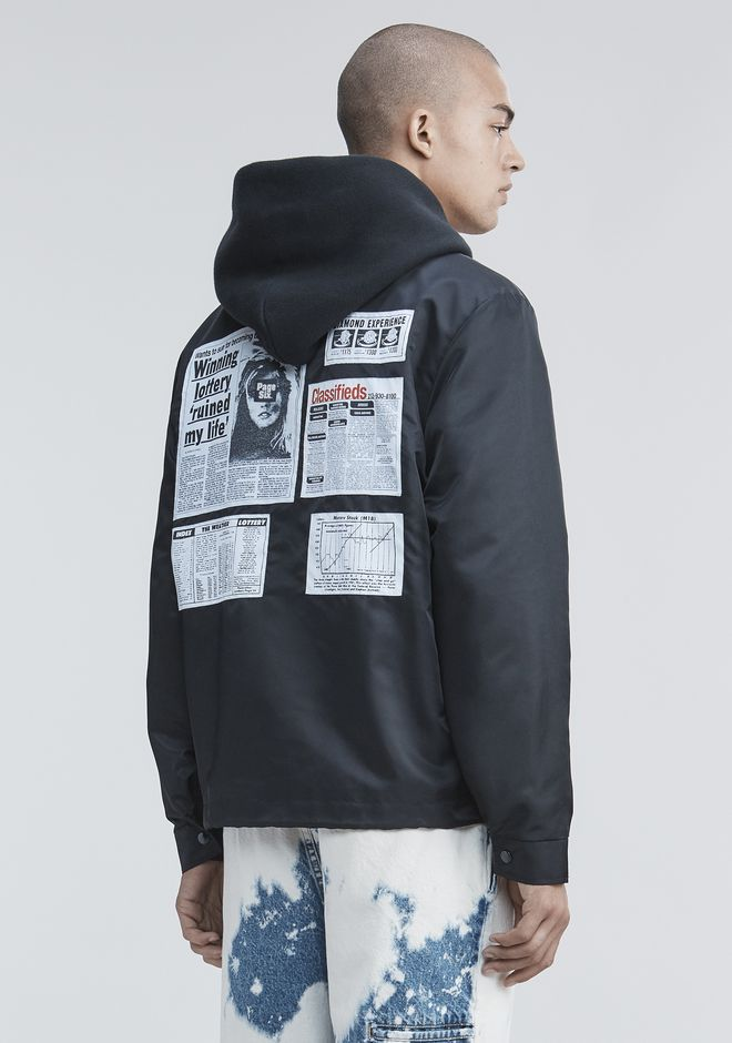 ALEXANDER WANG PAGE SIX COACH'S JACKET JACKETS AND OUTERWEAR  Adult 12_n_d