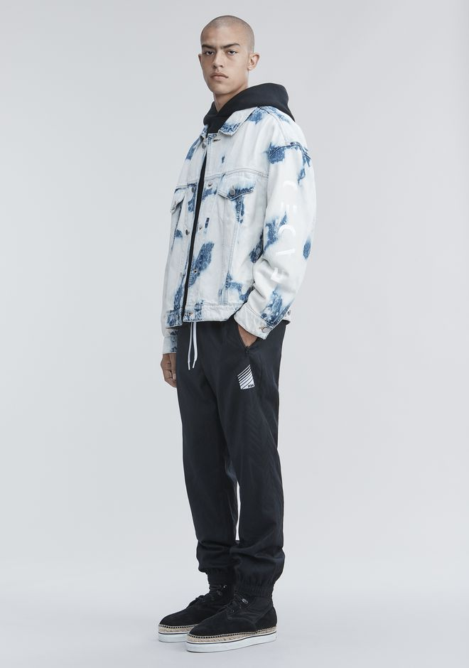 ALEXANDER WANG JACKETS AND OUTERWEAR  Men BLEACHED DENIM JACKET