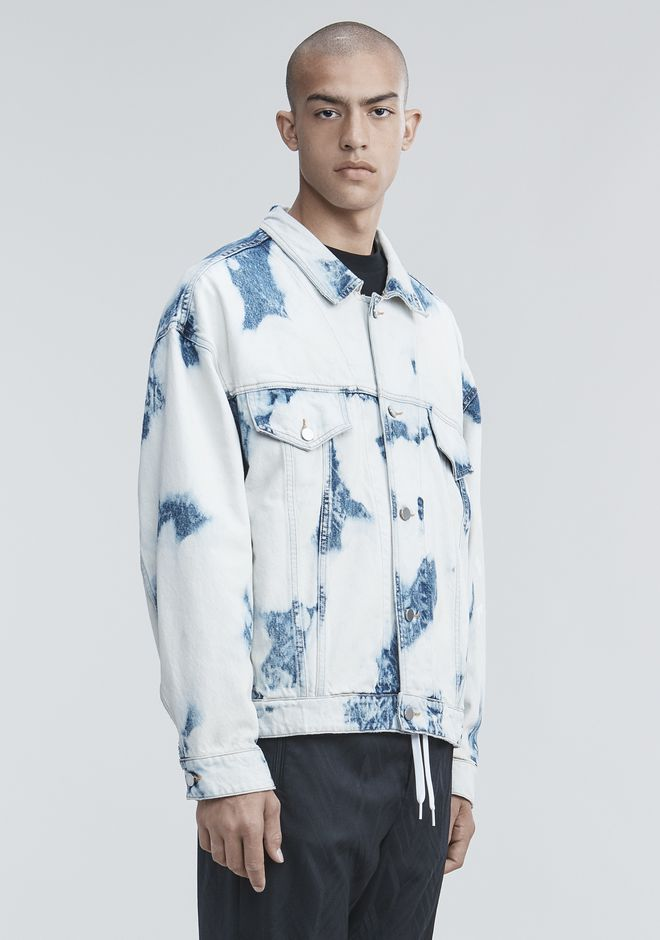 ALEXANDER WANG BLEACHED DENIM JACKET JACKETS AND OUTERWEAR  Adult 12_n_a