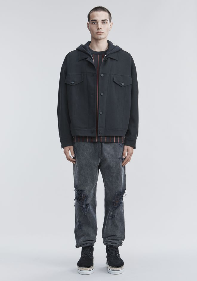 ALEXANDER WANG TRUCKER JACKET JACKETS AND OUTERWEAR  Adult 12_n_f