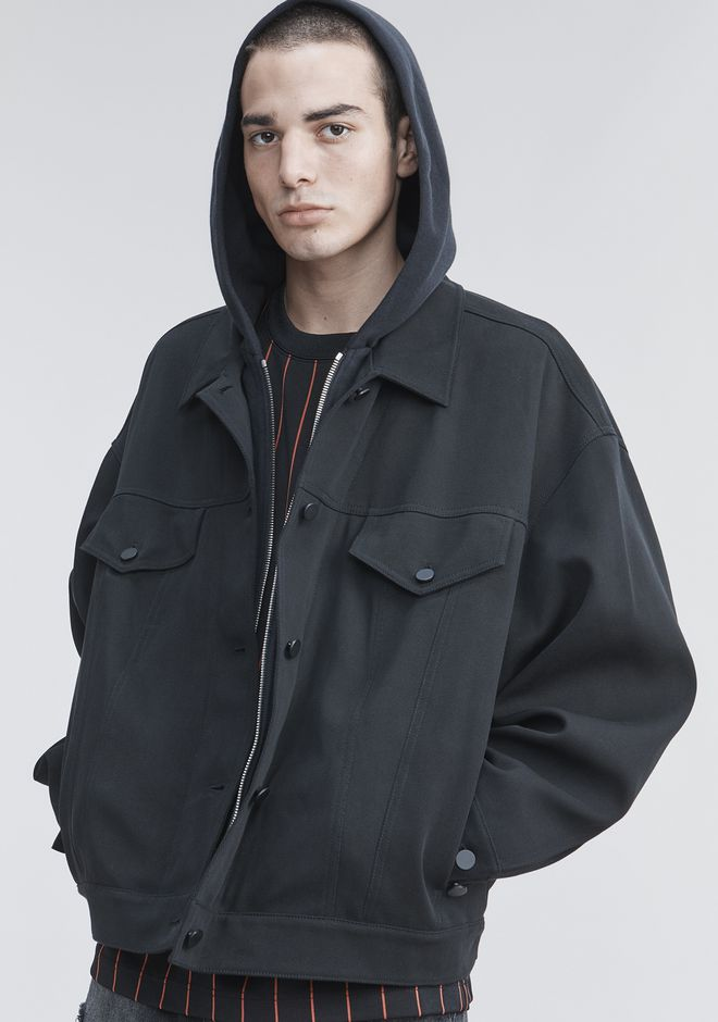 ALEXANDER WANG TRUCKER JACKET JACKETS AND OUTERWEAR  Adult 12_n_r