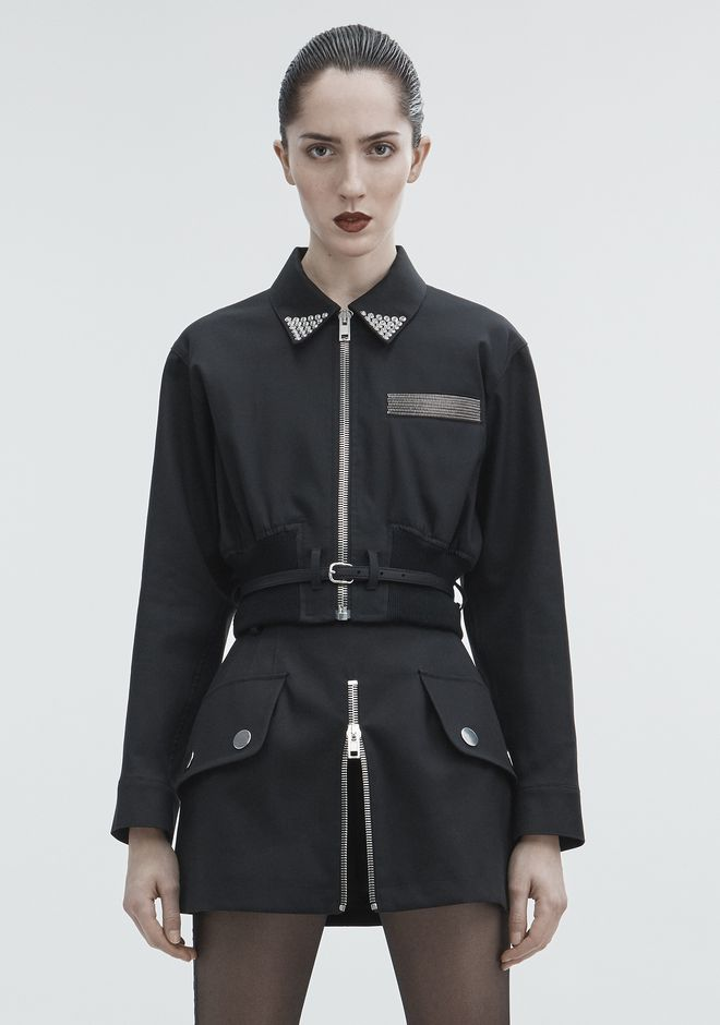 ALEXANDER WANG CROPPED UTILITY JACKET JACKETS AND OUTERWEAR  Adult 12_n_a