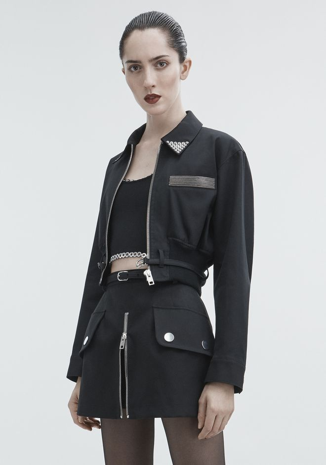 ALEXANDER WANG CROPPED UTILITY JACKET JACKETS AND OUTERWEAR  Adult 12_n_d