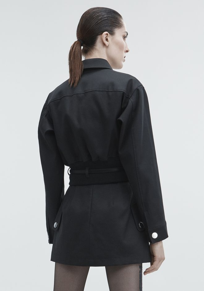 ALEXANDER WANG CROPPED UTILITY JACKET JACKETS AND OUTERWEAR  Adult 12_n_e