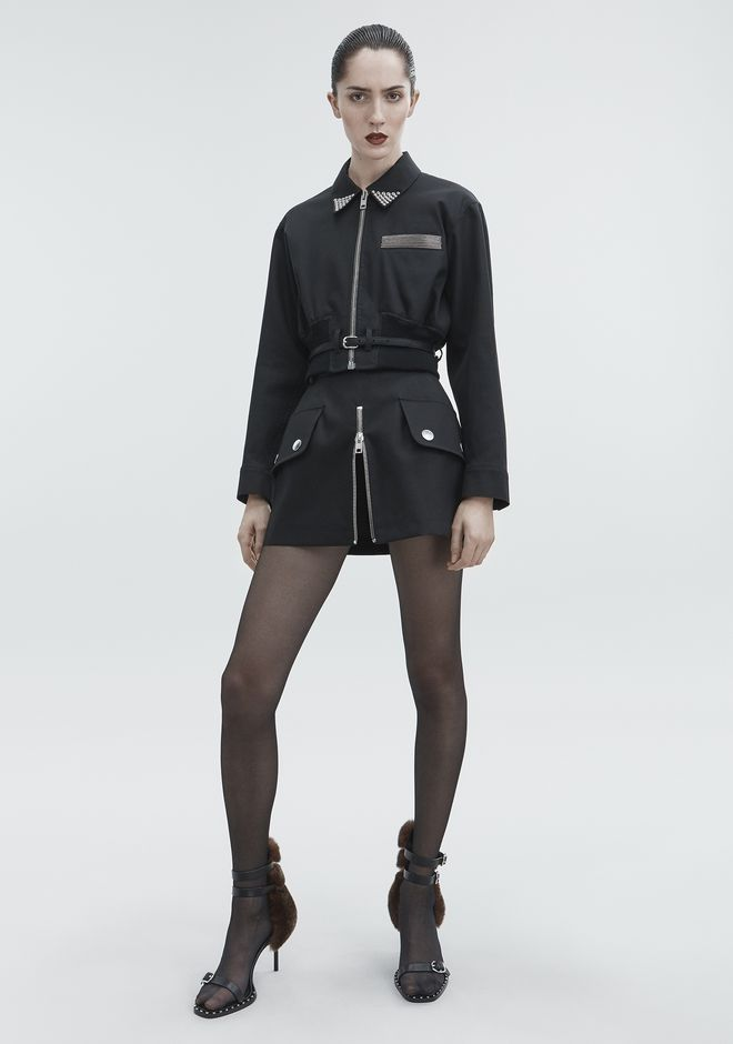 ALEXANDER WANG CROPPED UTILITY JACKET JACKETS AND OUTERWEAR  Adult 12_n_f