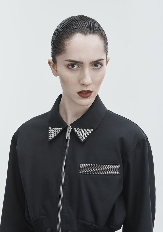 ALEXANDER WANG CROPPED UTILITY JACKET JACKETS AND OUTERWEAR  Adult 12_n_r