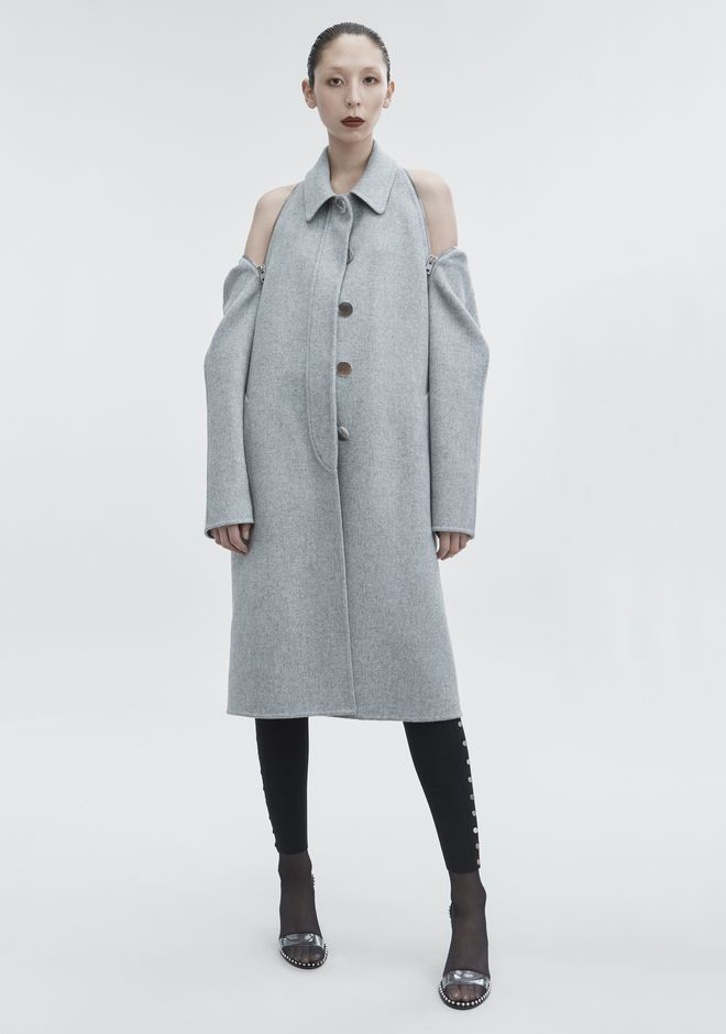 ALEXANDER WANG classic-outerwear WOOL CAR COAT
