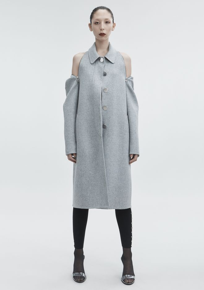 ALEXANDER WANG WOOL CAR COAT JACKETS AND OUTERWEAR  Adult 12_n_a