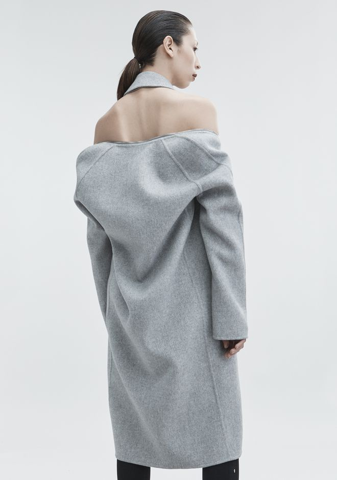 ALEXANDER WANG WOOL CAR COAT JACKETS AND OUTERWEAR  Adult 12_n_e
