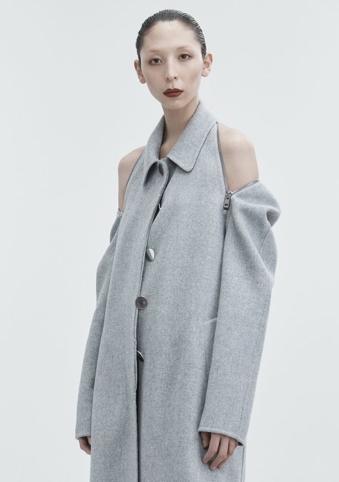 ALEXANDER WANG WOOL CAR COAT JACKETS AND OUTERWEAR  Adult 12_n_r