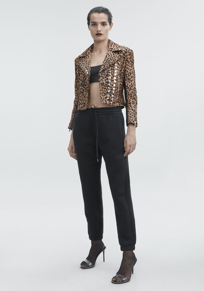 ALEXANDER WANG LEOPARD MOTO JACKET JACKETS AND OUTERWEAR  Adult 12_n_f