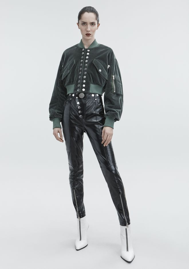 ALEXANDER WANG JACKETS AND OUTERWEAR  Women VELVET CROPPED BOMBER
