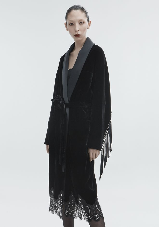ALEXANDER WANG OVERSIZED VELVET ROBE JACKETS AND OUTERWEAR  Adult 12_n_d