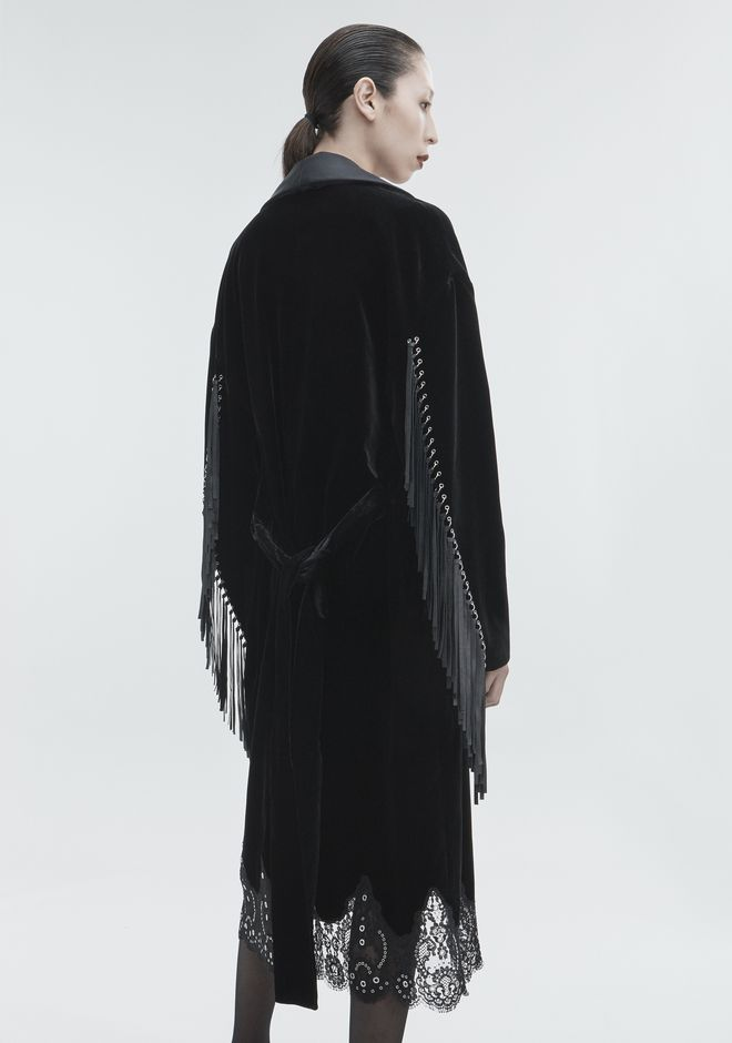 ALEXANDER WANG OVERSIZED VELVET ROBE JACKETS AND OUTERWEAR  Adult 12_n_e