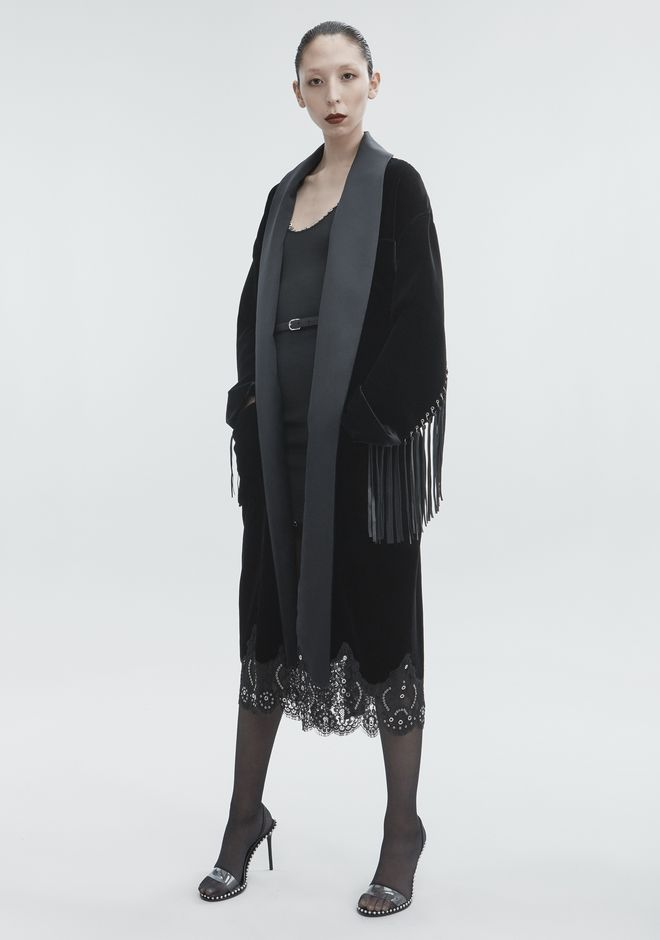 ALEXANDER WANG OVERSIZED VELVET ROBE JACKETS AND OUTERWEAR  Adult 12_n_f