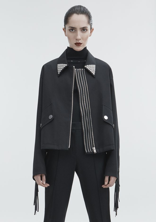 ALEXANDER WANG UTILITY JACKET JACKETS AND OUTERWEAR  Adult 12_n_a