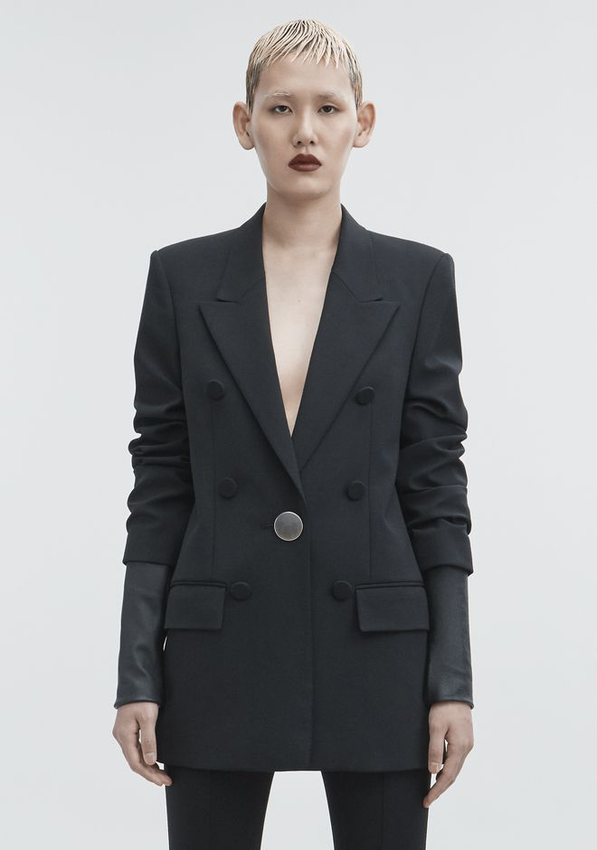 ALEXANDER WANG JACKET WITH LEATHER SLEEVES GIACCHE E CAPISPALLA  Adult 12_n_a