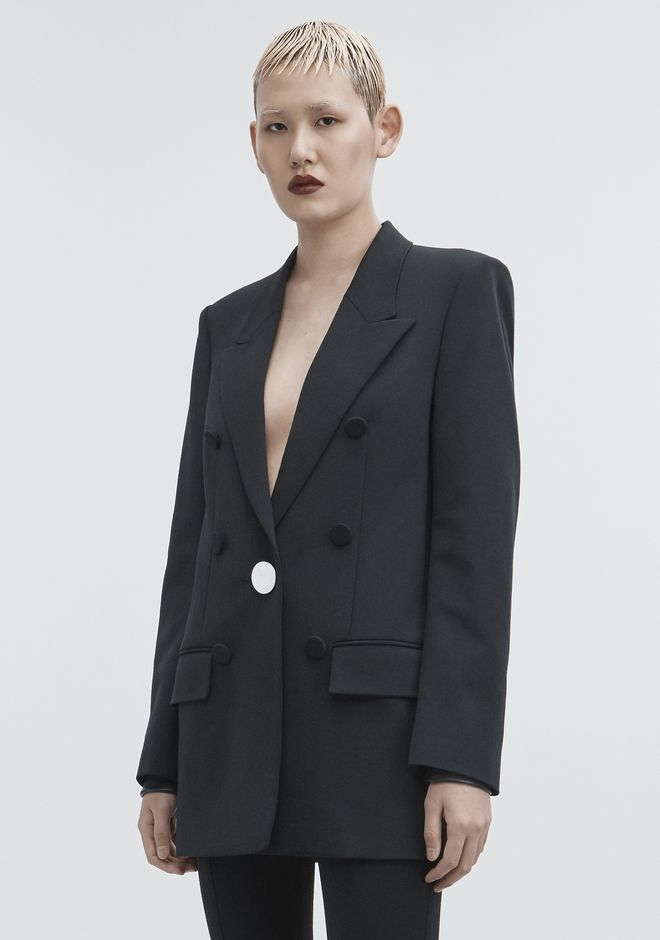 ALEXANDER WANG JACKET WITH LEATHER SLEEVES JACKETS AND OUTERWEAR  Adult 12_n_d