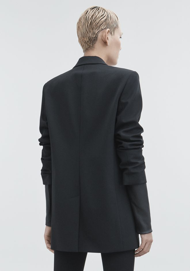 ALEXANDER WANG JACKET WITH LEATHER SLEEVES JACKETS AND OUTERWEAR  Adult 12_n_e