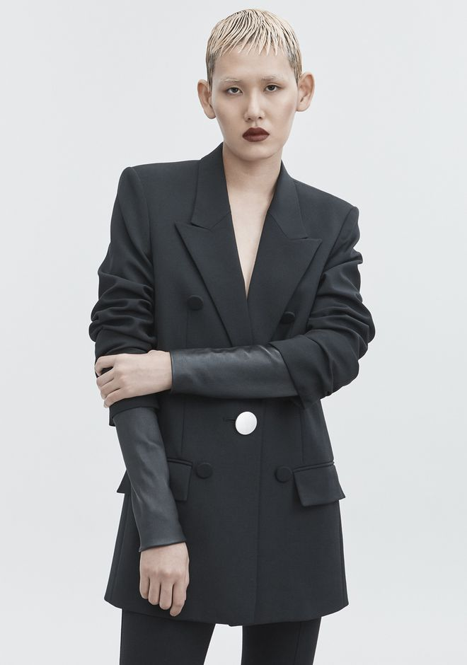 ALEXANDER WANG JACKET WITH LEATHER SLEEVES GIACCHE E CAPISPALLA  Adult 12_n_r