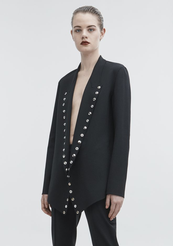 ALEXANDER WANG SNAP BLAZER JACKETS AND OUTERWEAR  Adult 12_n_d