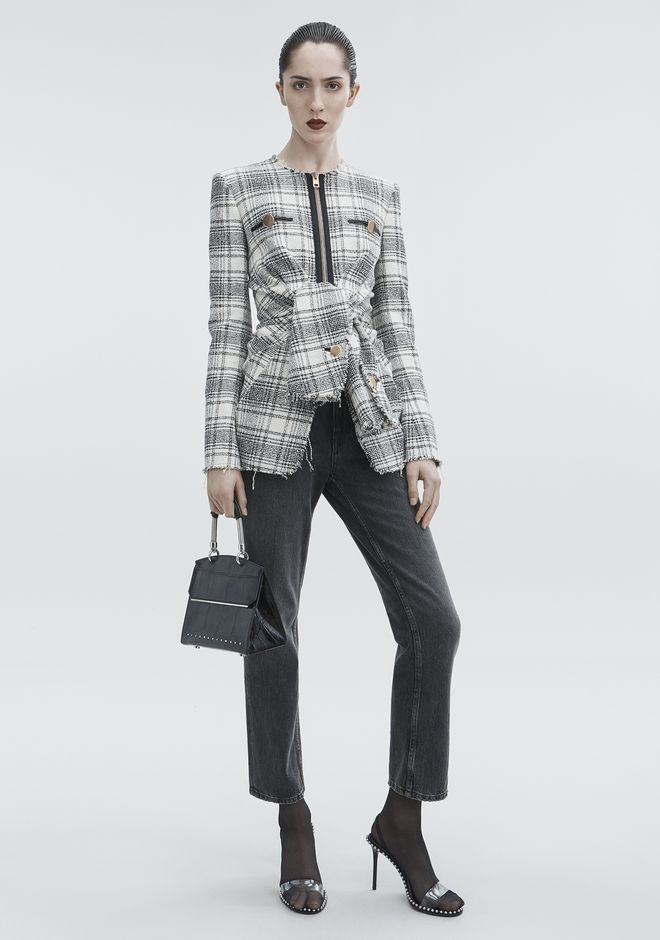 ALEXANDER WANG new-arrivals-ready-to-wear-woman DECONSTRUCTED TWEED JACKET