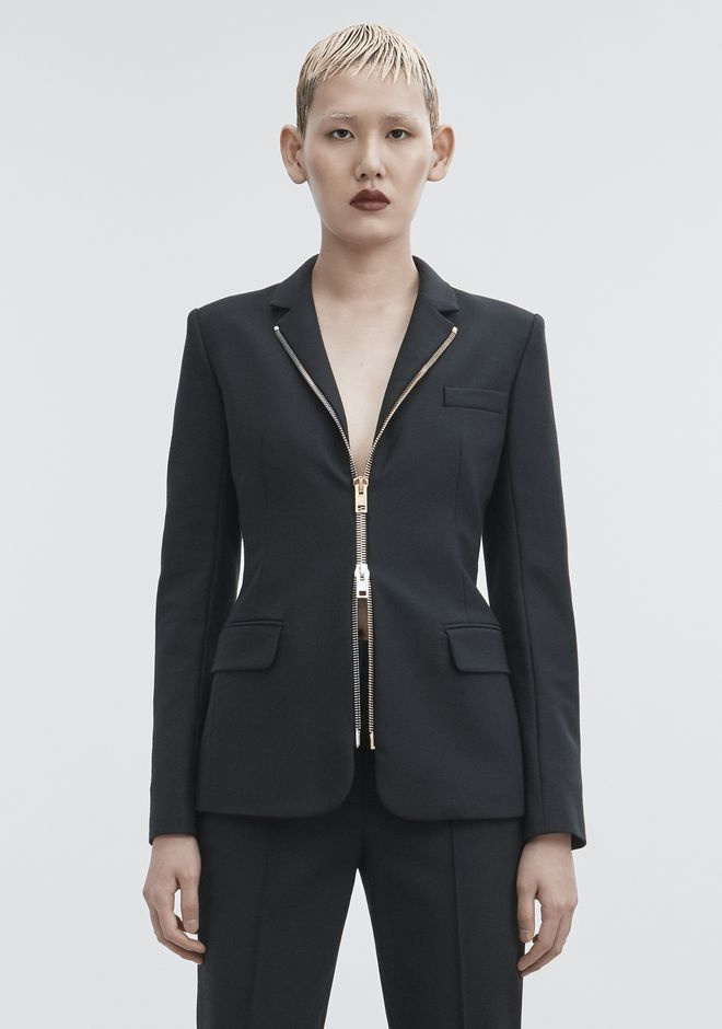 ALEXANDER WANG FITTED BLAZER  JACKETS AND OUTERWEAR  Adult 12_n_a